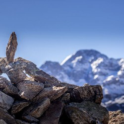 Cairn en direction du Mont...